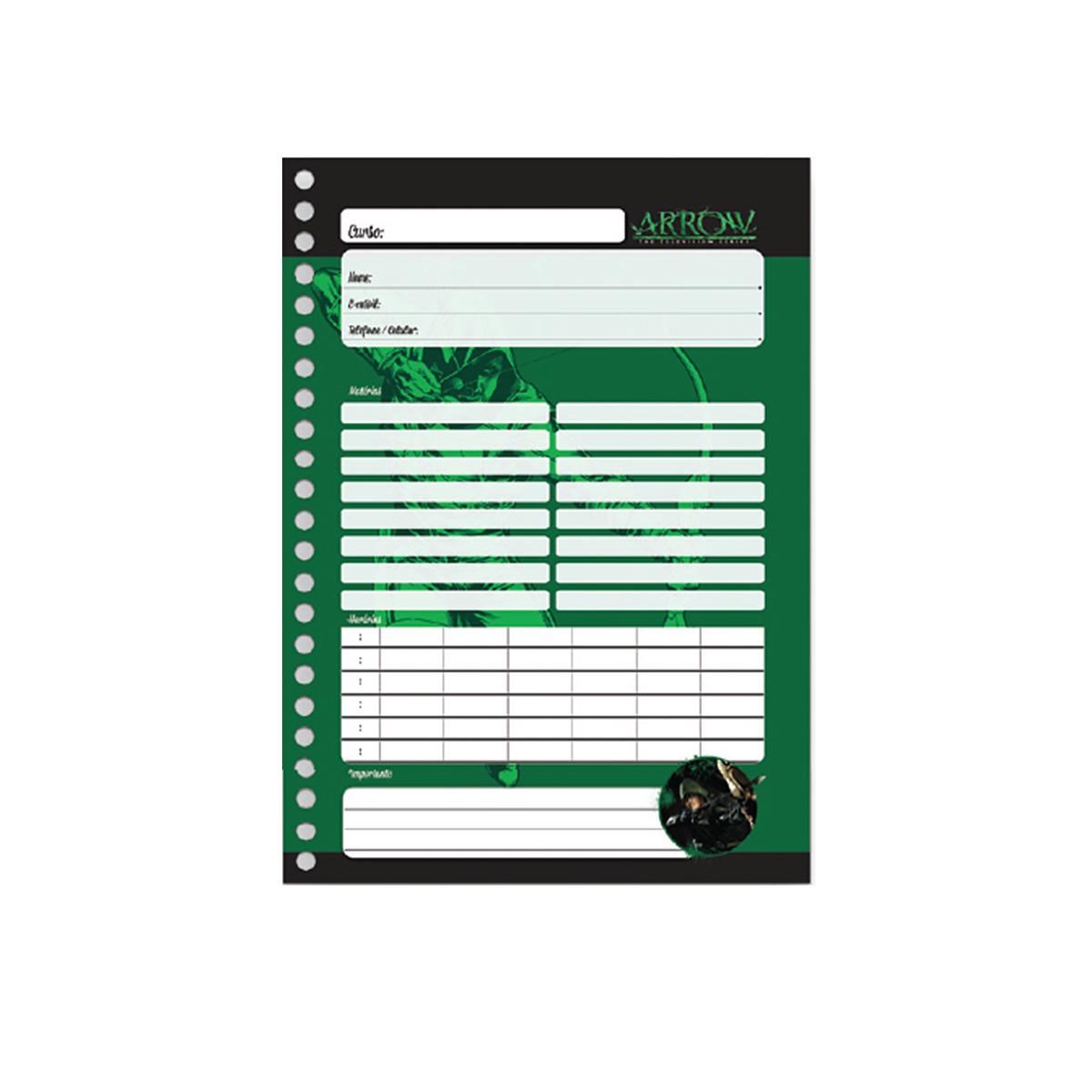Caderno Arrow Archer Green 10 Matérias