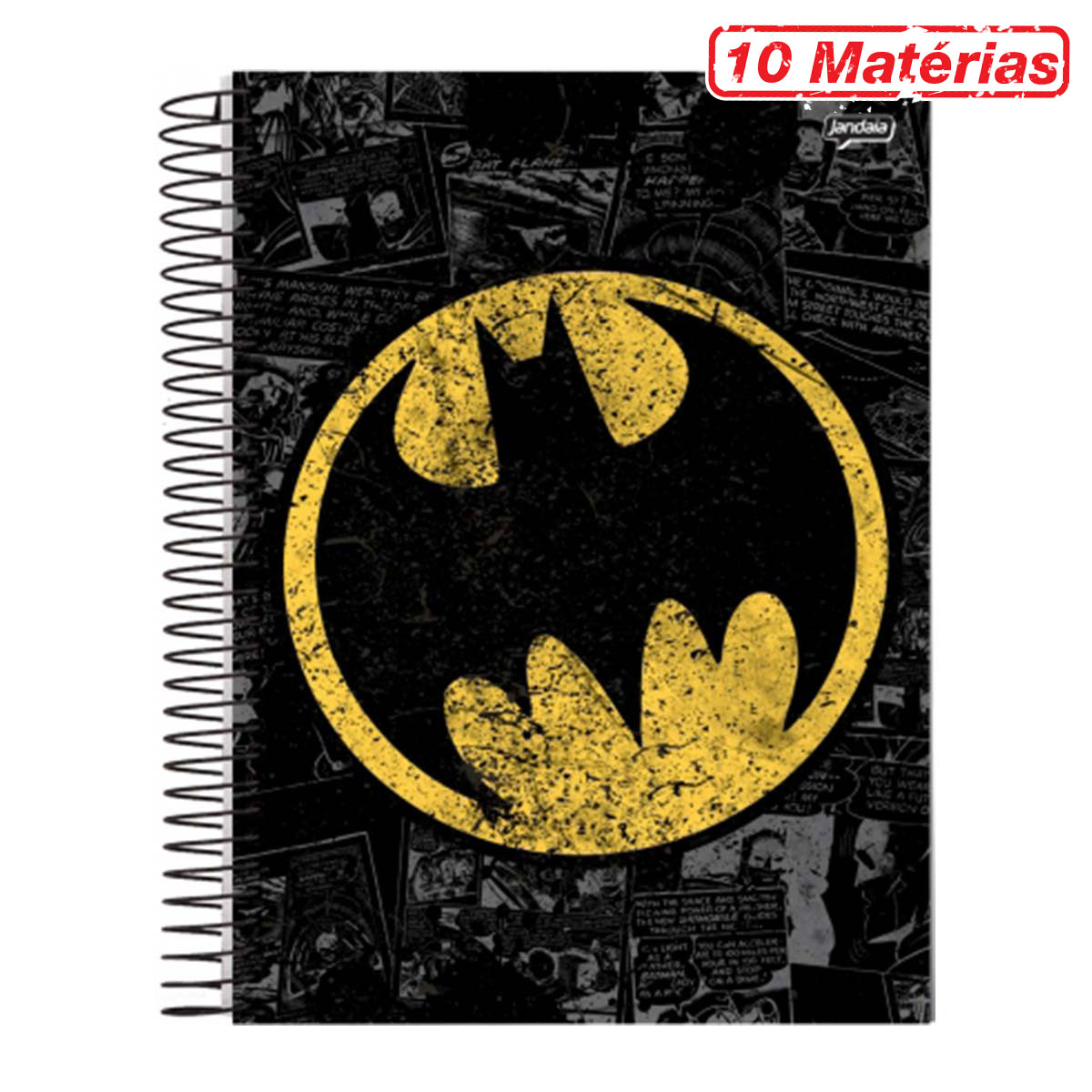 Caderno Batman Logo Retrô 10 Matérias