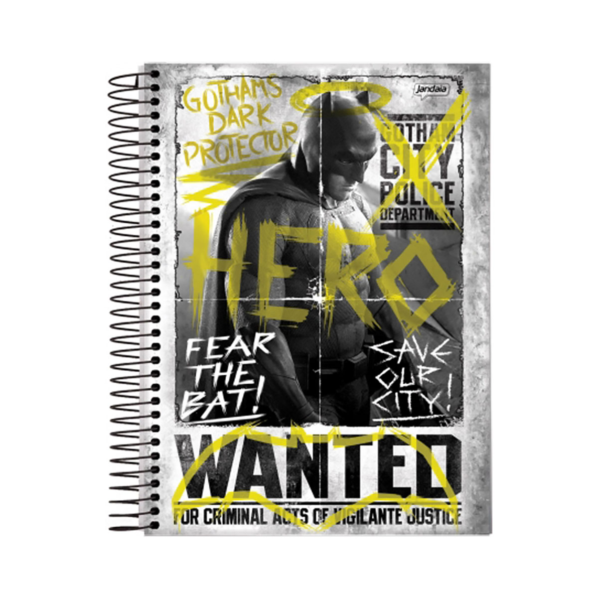 Caderno Batman VS Superman Hero Wanted 1 Matéria