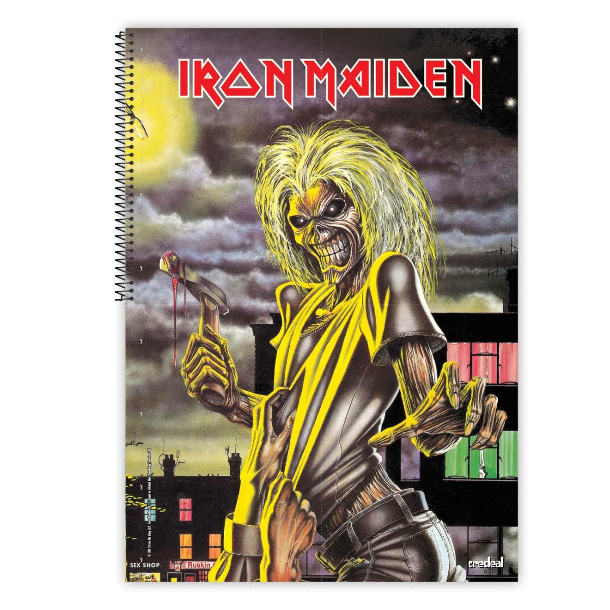 Caderno Iron Maiden Powerslave 1 Matéria