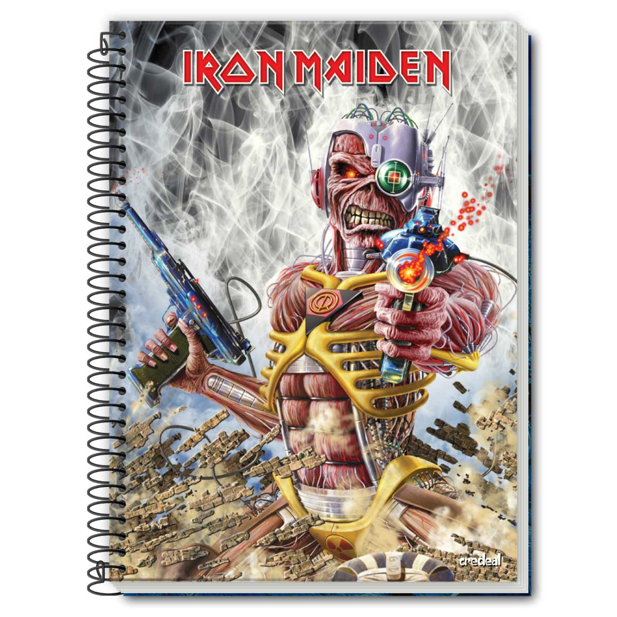 Caderno Iron Maiden Somewhere In Time 1 Matéria