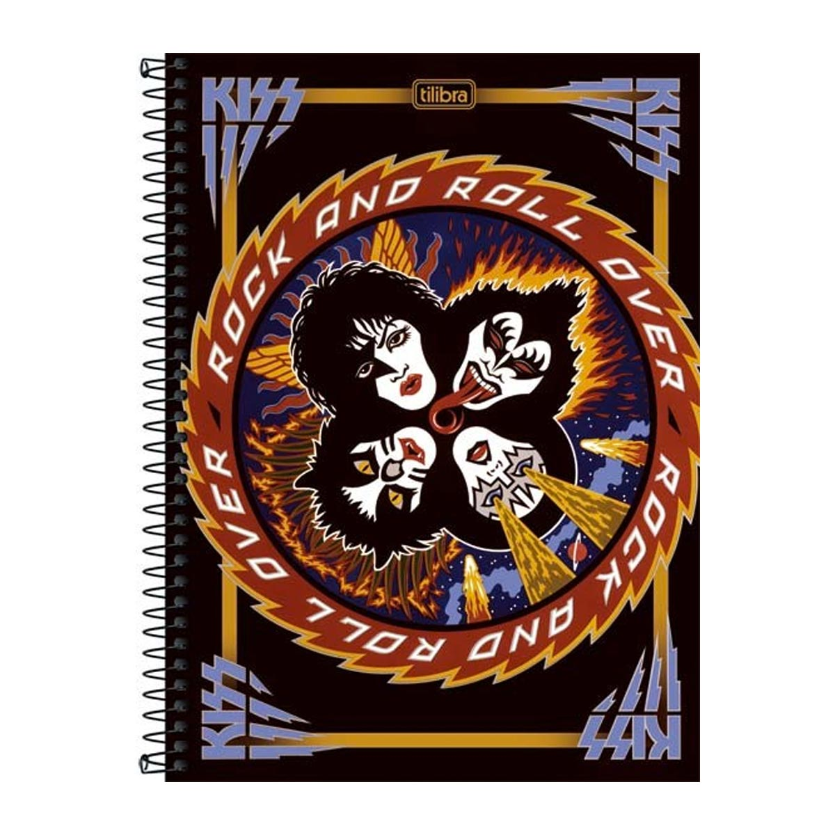 Caderno Kiss Rock And Roll Over 10 Matérias