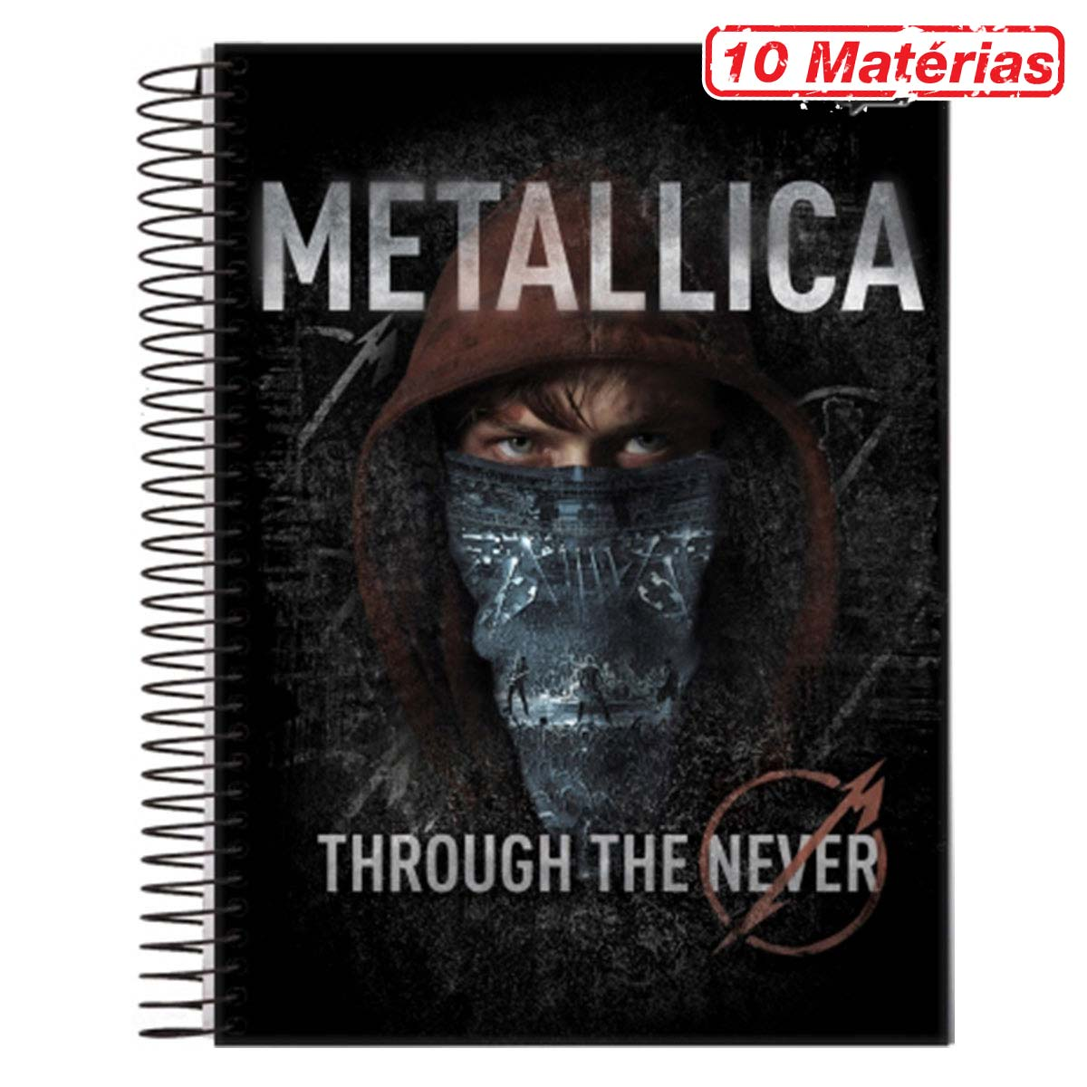 Caderno Metallica Through The Never 10 Matérias