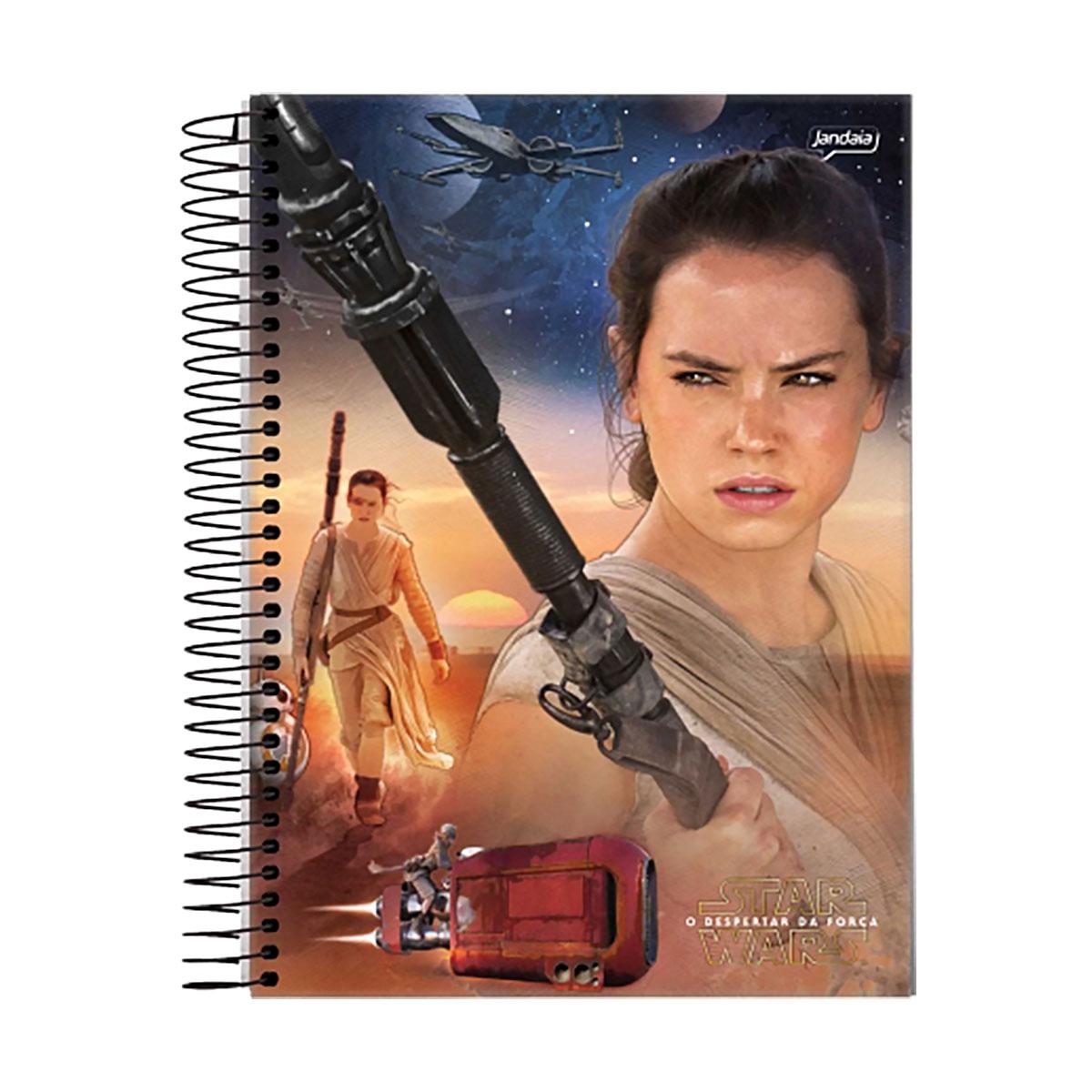 Caderno Star Wars Rey Face 1 Matéria