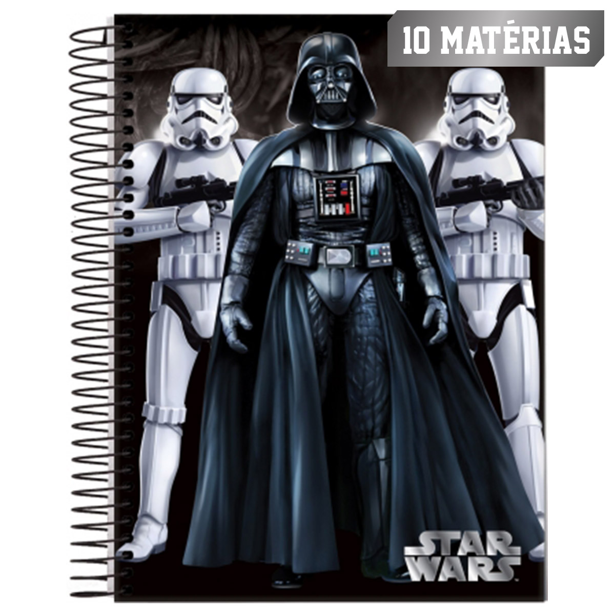 Caderno Star Wars Soldados Vader 10 Matérias