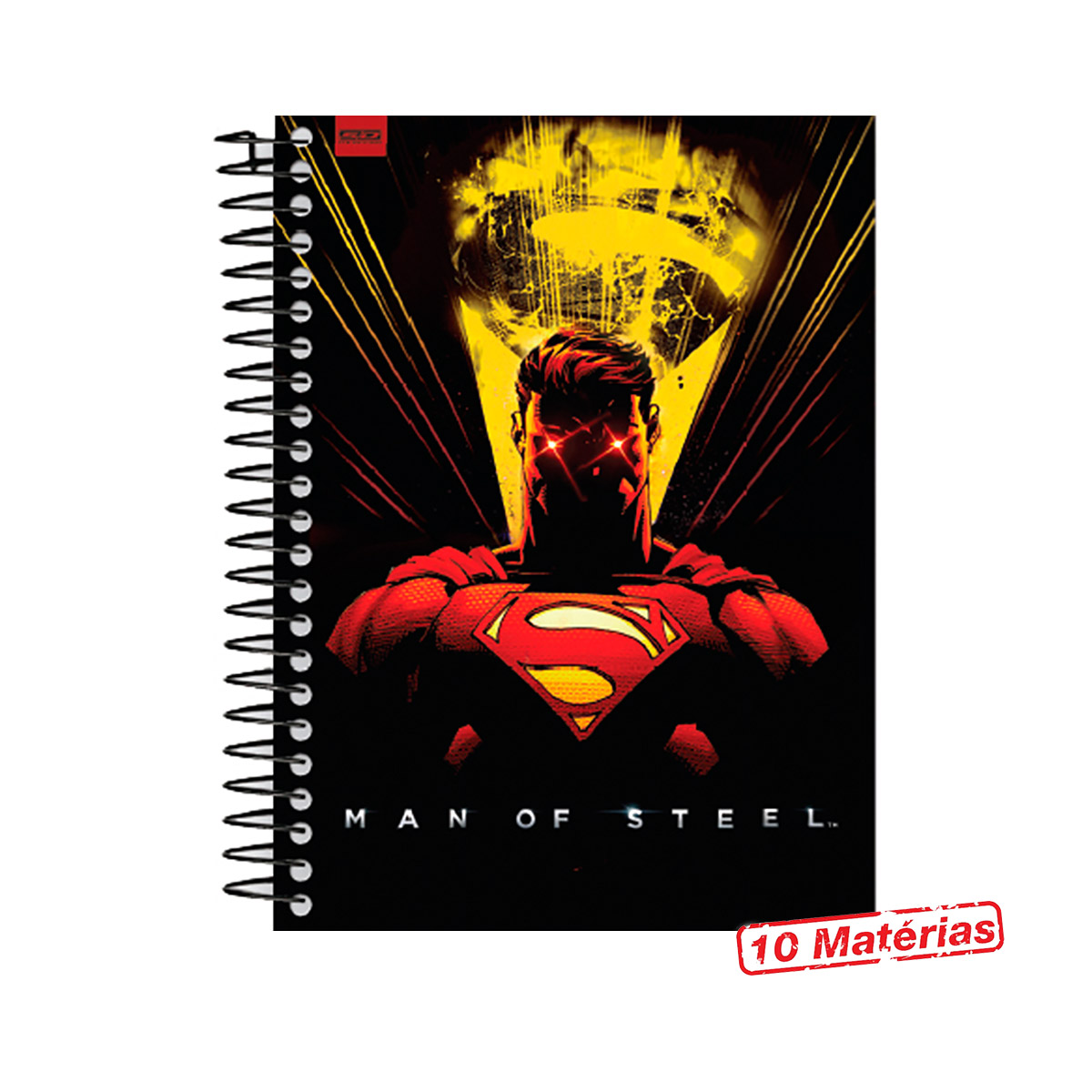 Caderno Superman Dark Ray Vision 10 Matérias