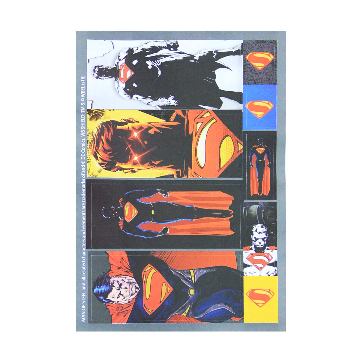 Caderno Superman Man of Steel Brown 1 Matéria