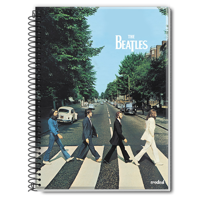 Caderno The Beatles Abbey Road Colors 1 Matéria