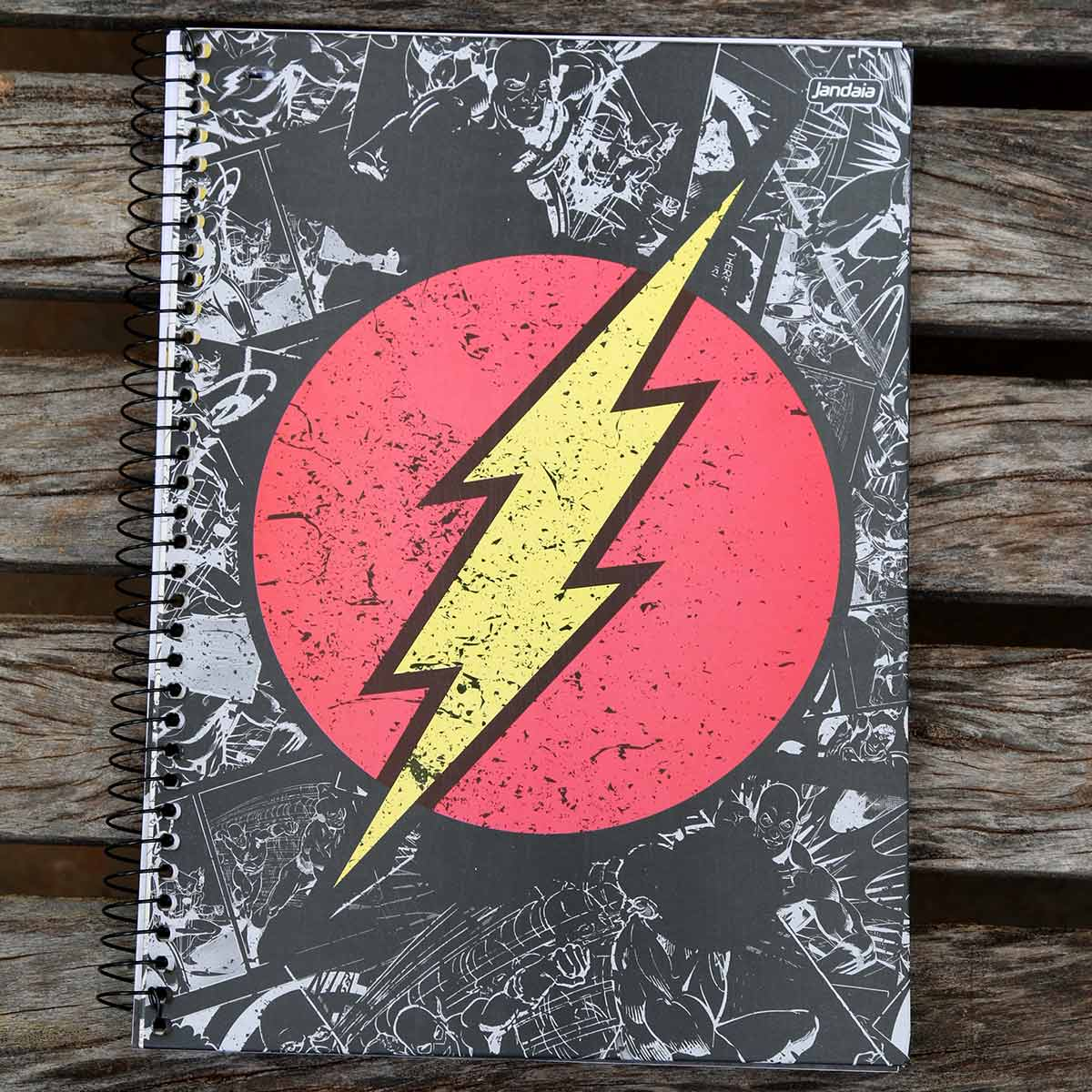 Caderno The Flash Logo Retrô 1 Matéria