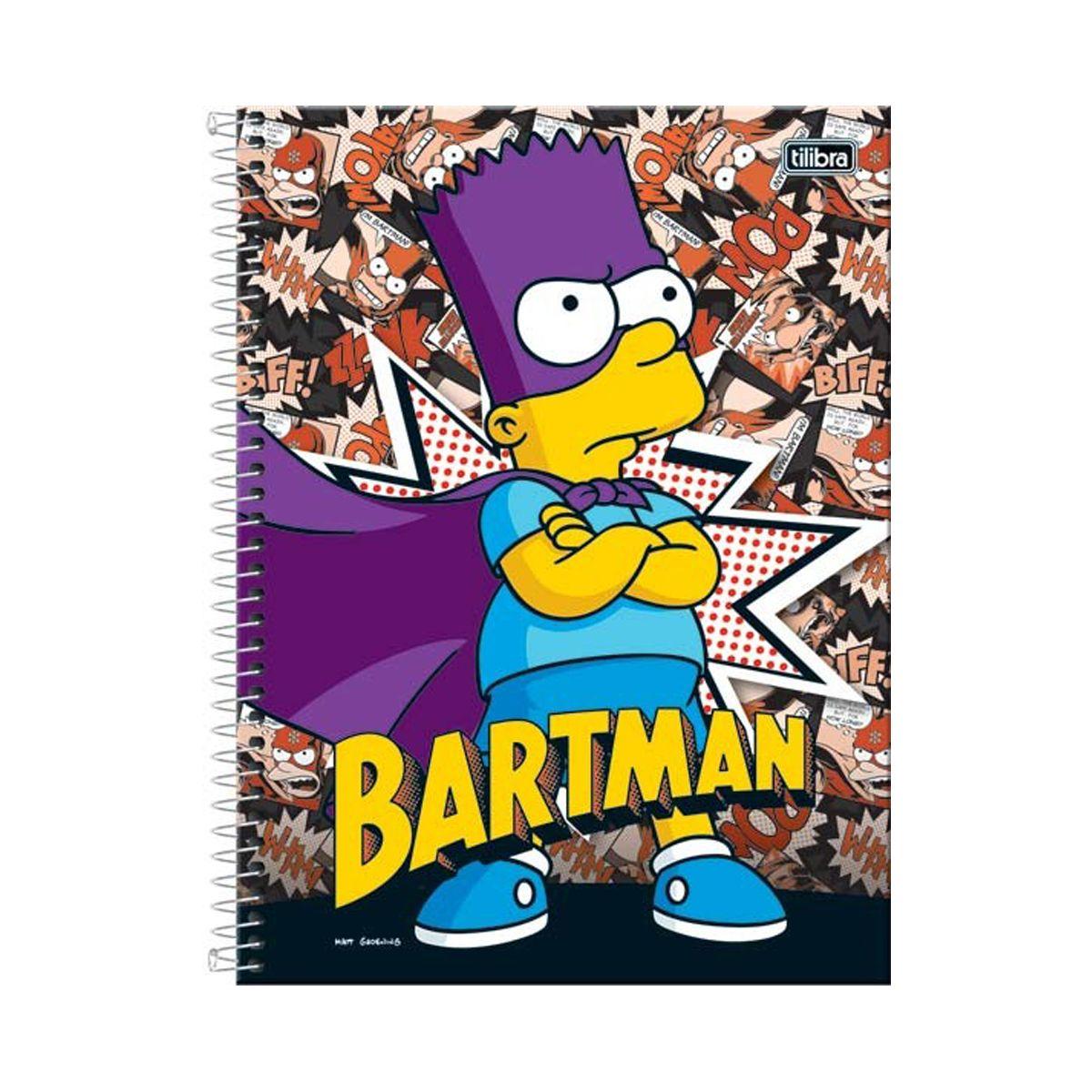 Caderno The Simpsons Bartman 10 Matérias