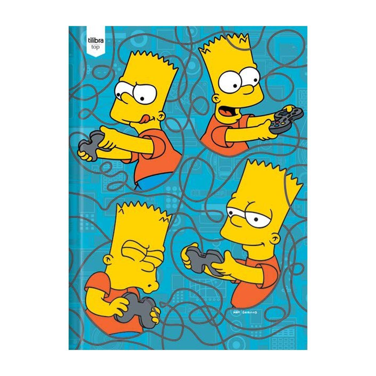 Caderno The Simpsons Vídeo Game Brochura 1 Matéria