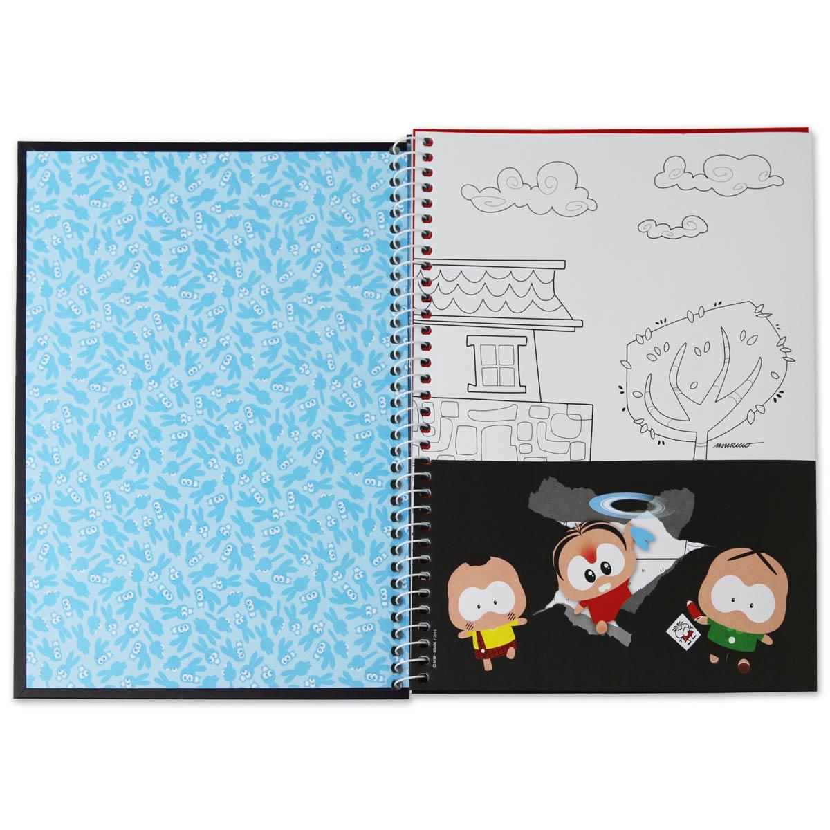 Caderno Turma da Mônica Cascão Encanamento 10 Matérias
