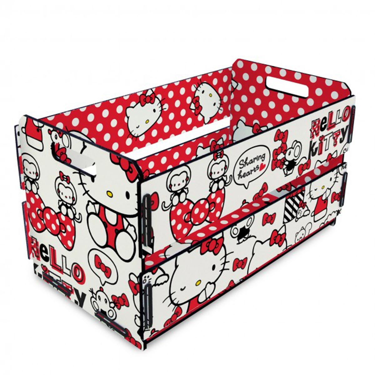 Caixote de Feira Hello Kitty Red Bow