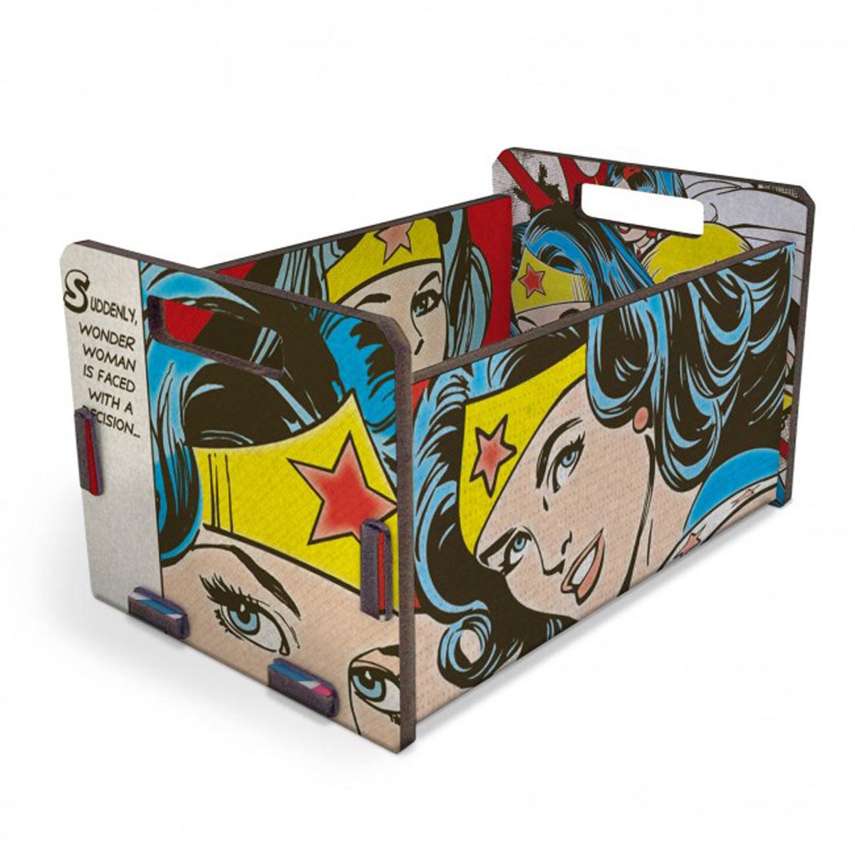 Caixote Organizador Wonder Woman