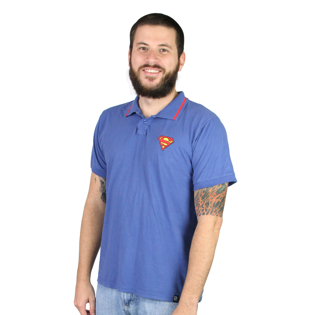 Camisa Polo Masculina Superman Logo
