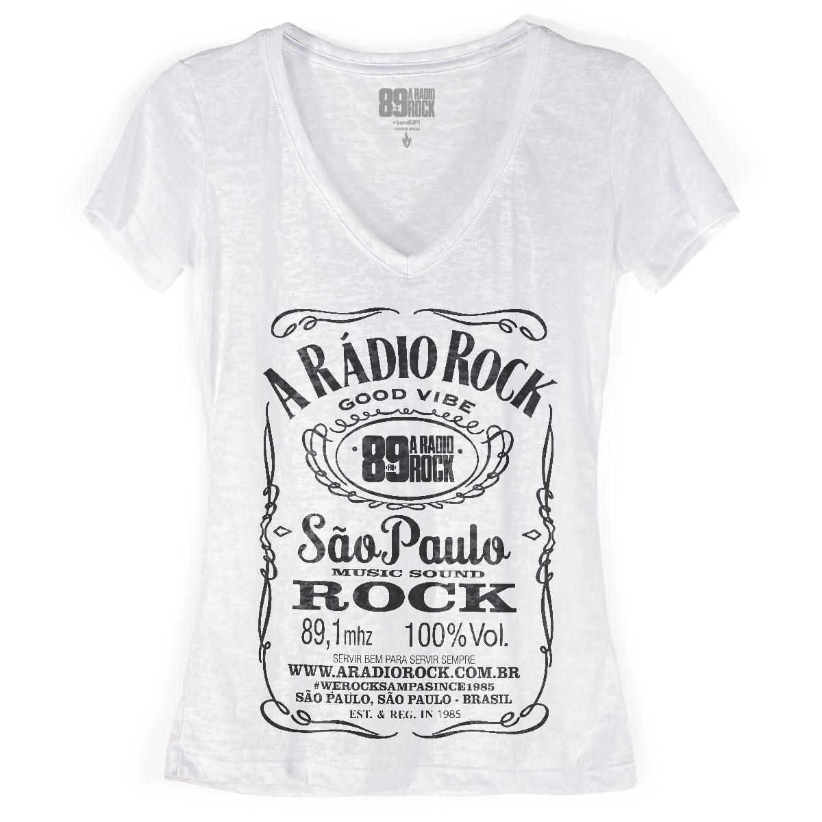 Camiseta Devorê Feminina 89FM A Rádio Rock