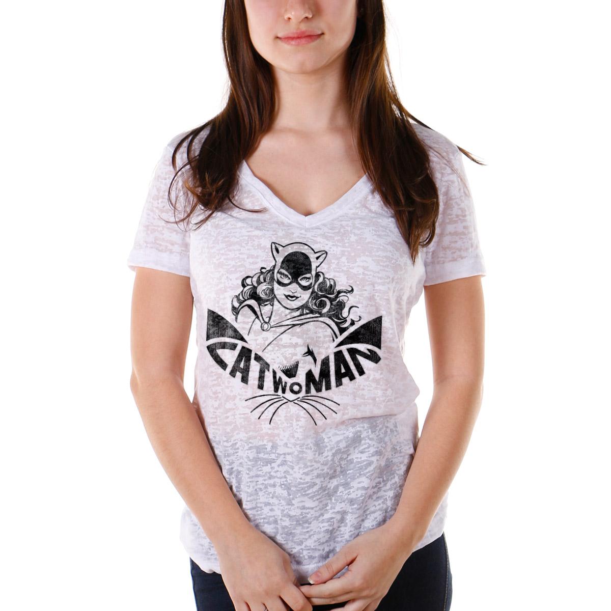 Camiseta Devorê Feminina Catwoman