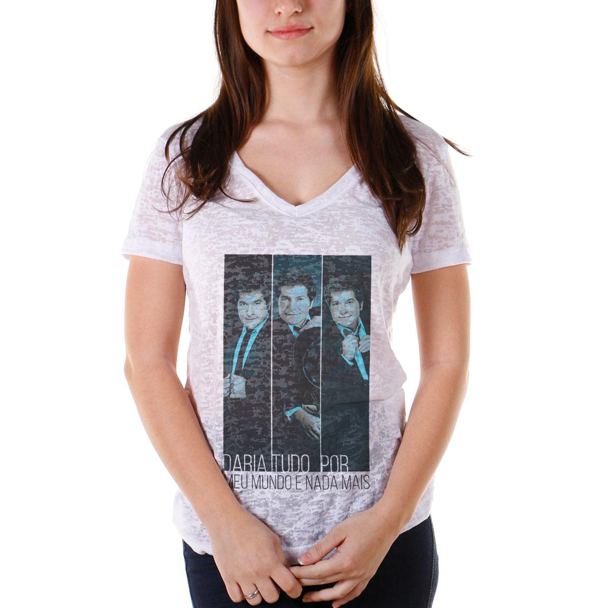 Camiseta Devorê Feminina Daniel Meu Mundo Poses 2
