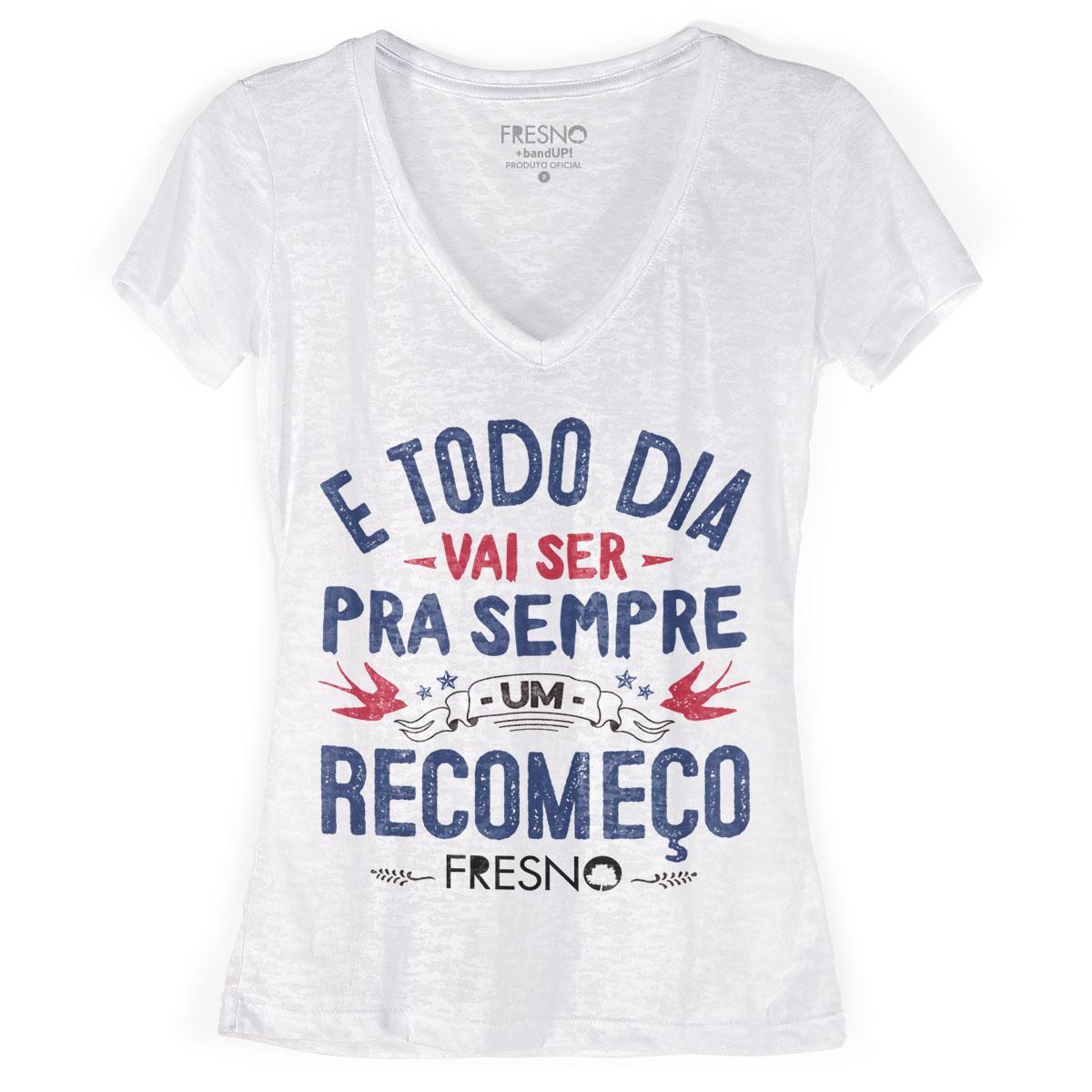 Camiseta Devorê Feminina Fresno Acordar