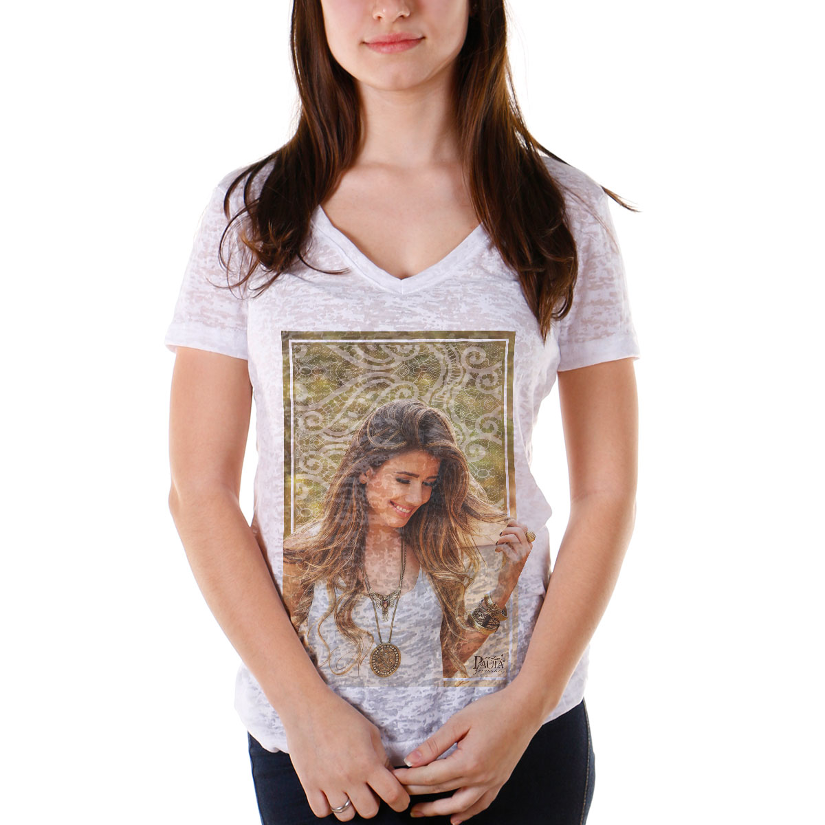 Camiseta Devorê Feminina Paula Fernandes Picture