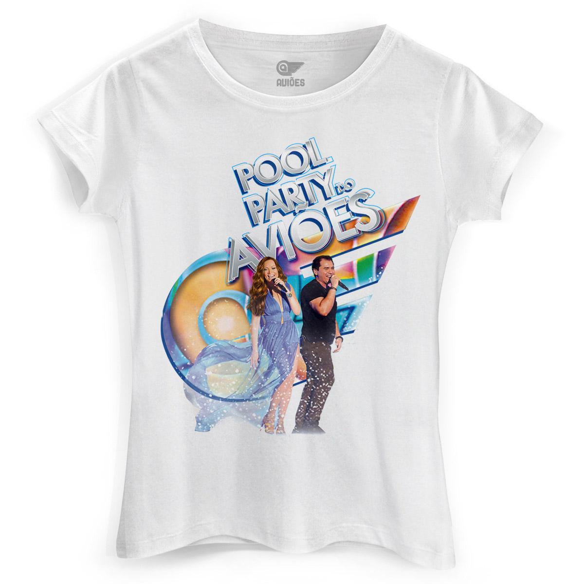 Camiseta Feminina Aviões do Forró Capa Pool Party