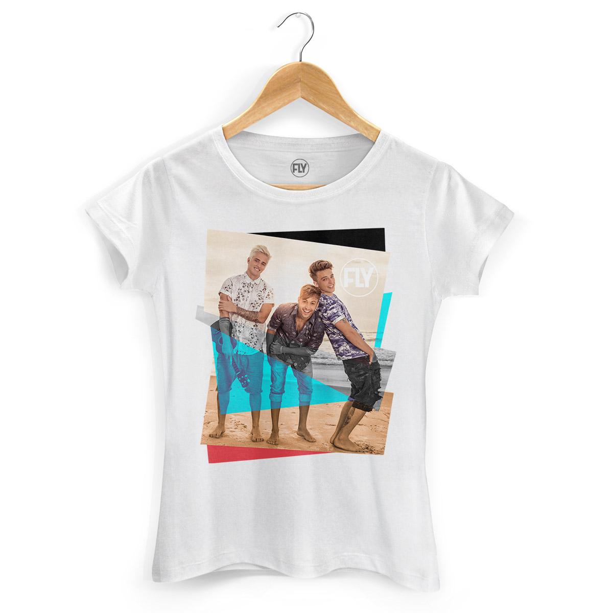 Camiseta Feminina Banda Fly Foto Colors