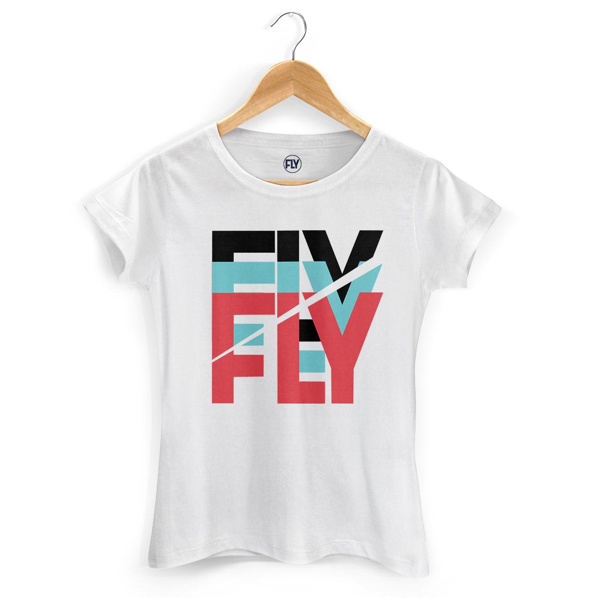 Camiseta Feminina Banda Fly Logo Colors