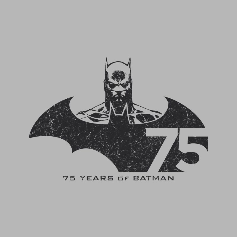 Camiseta Feminina Batman 75 Anos Tracing