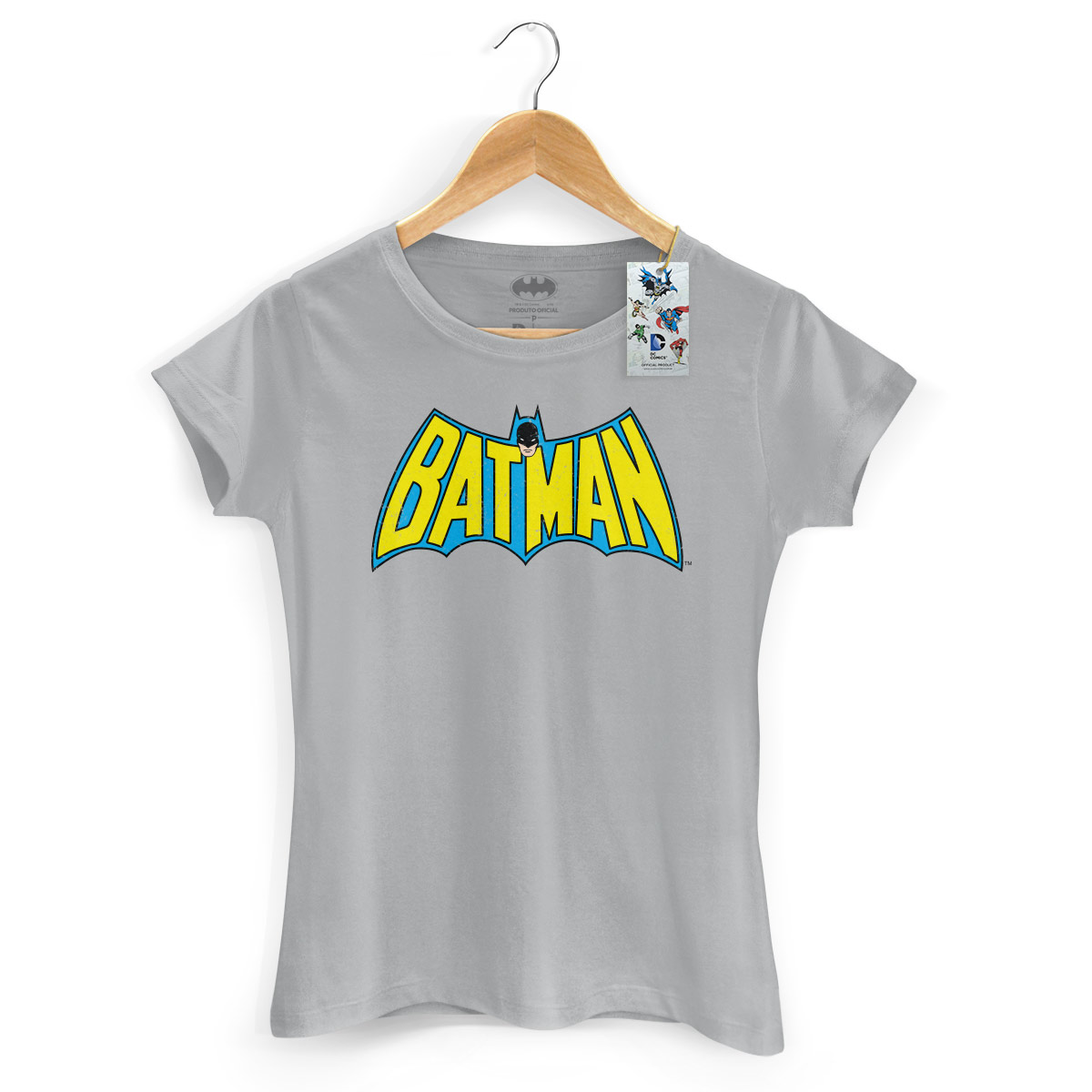 Camiseta Feminina Batman Logo 60s