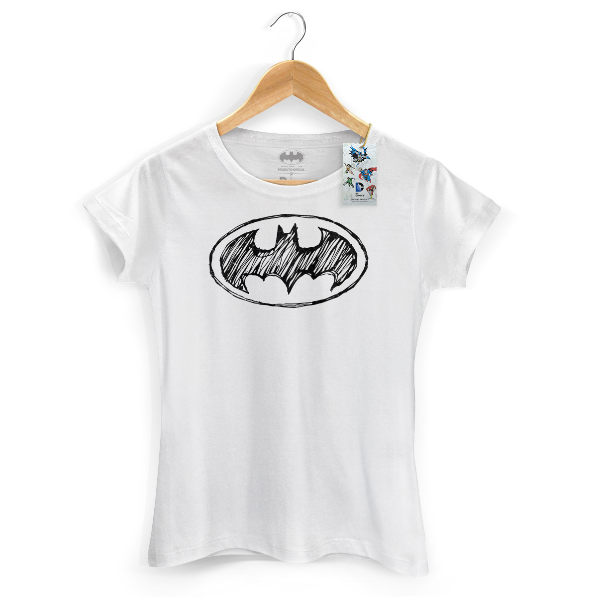 Camiseta Feminina Batman Tracing Logo