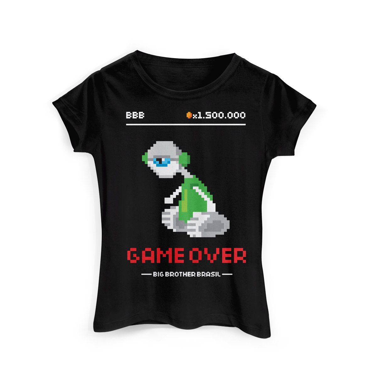 Camiseta Feminina Big Brother Brasil 15 Game Over