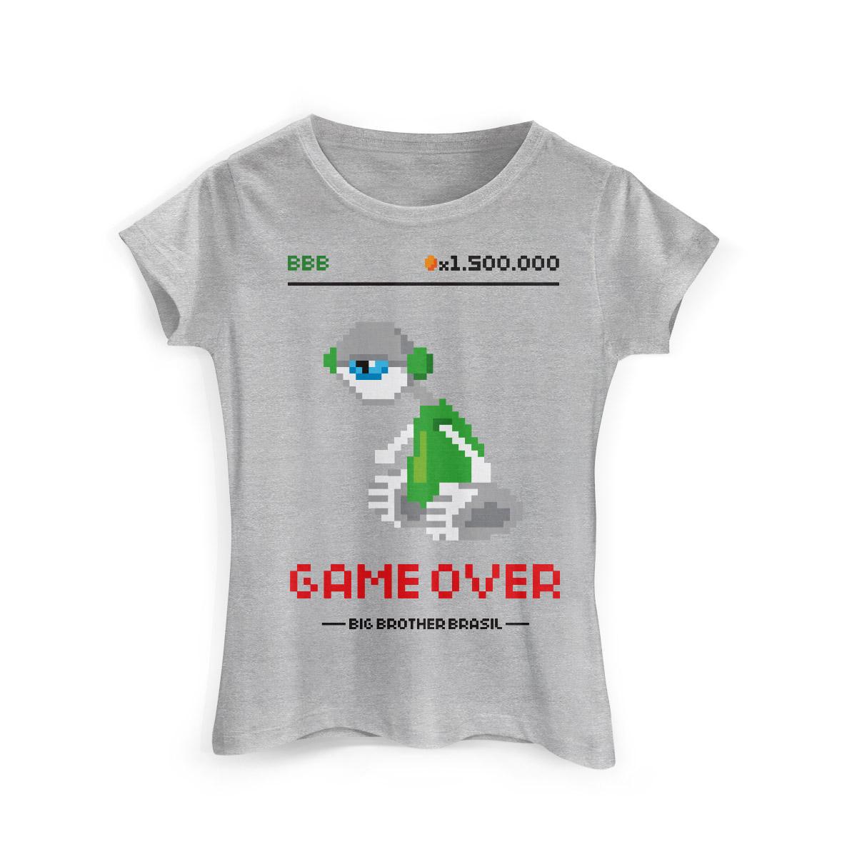 Camiseta Feminina Big Brother Brasil 15 Game Over Modelo 2