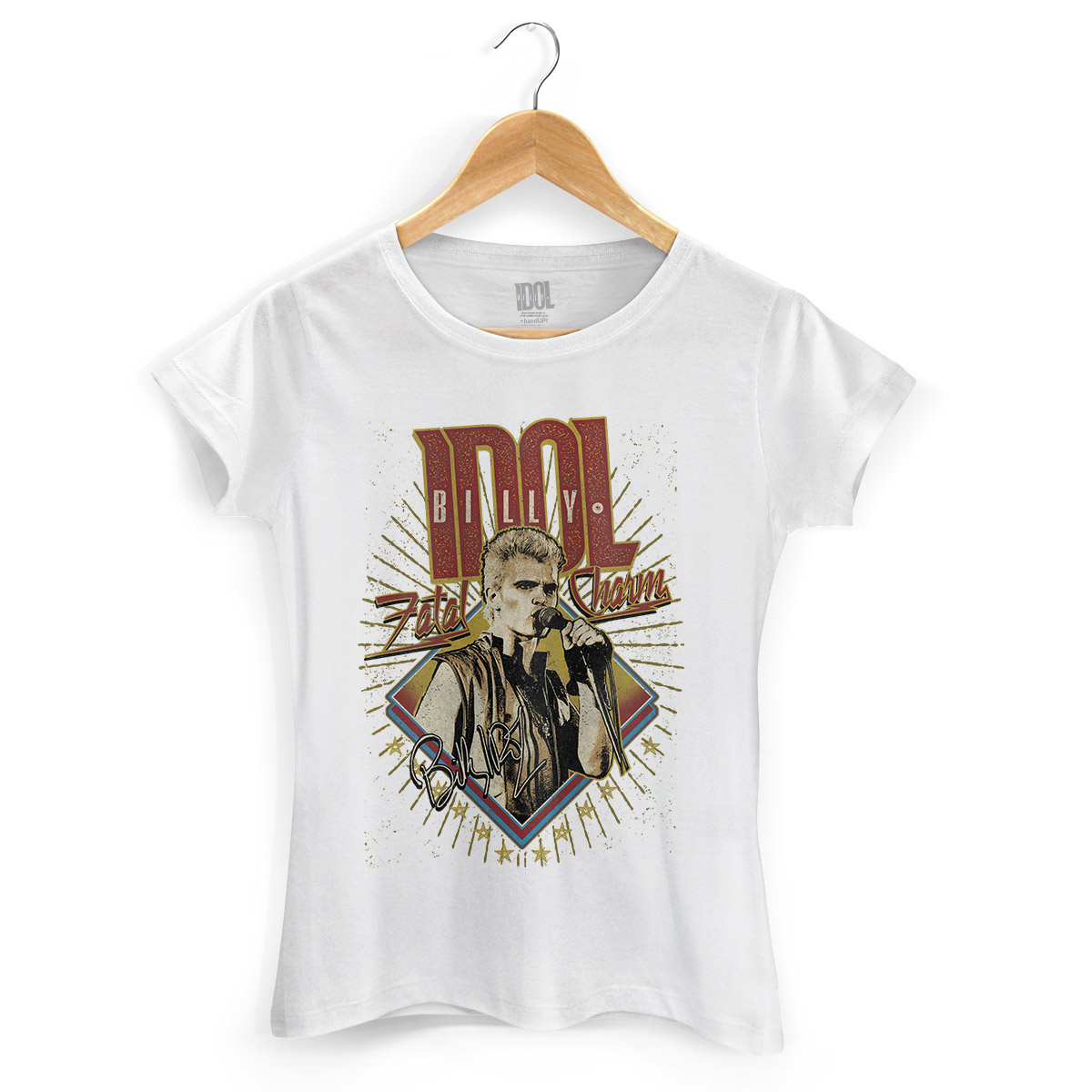 Camiseta Feminina Billy Idol Fatal Charm