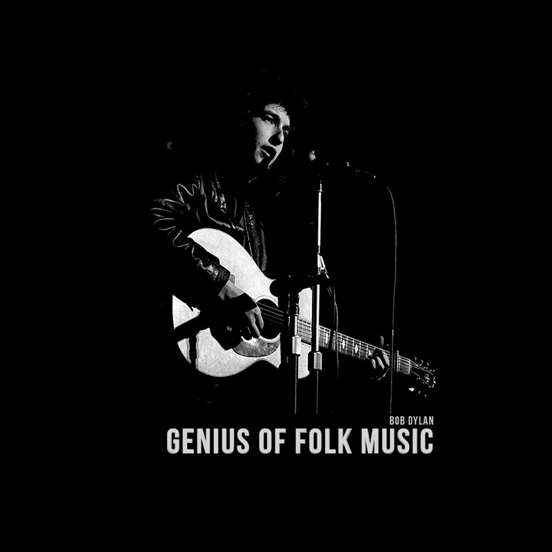 Camiseta Feminina Bob Dylan Genius Of Folk Music