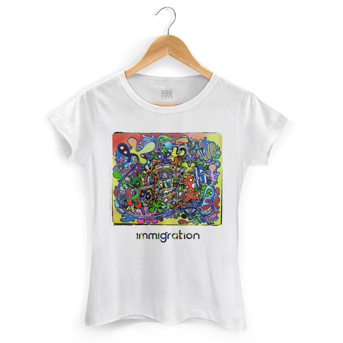Camiseta Feminina Bruna Immigration