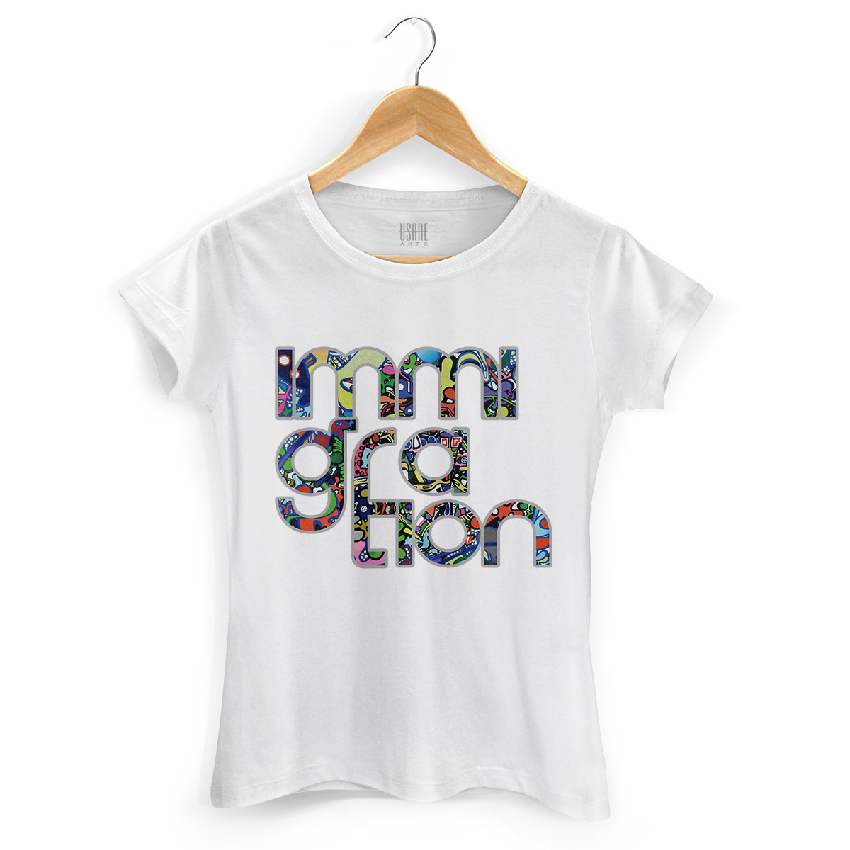 Camiseta Feminina Bruna Immigration Type