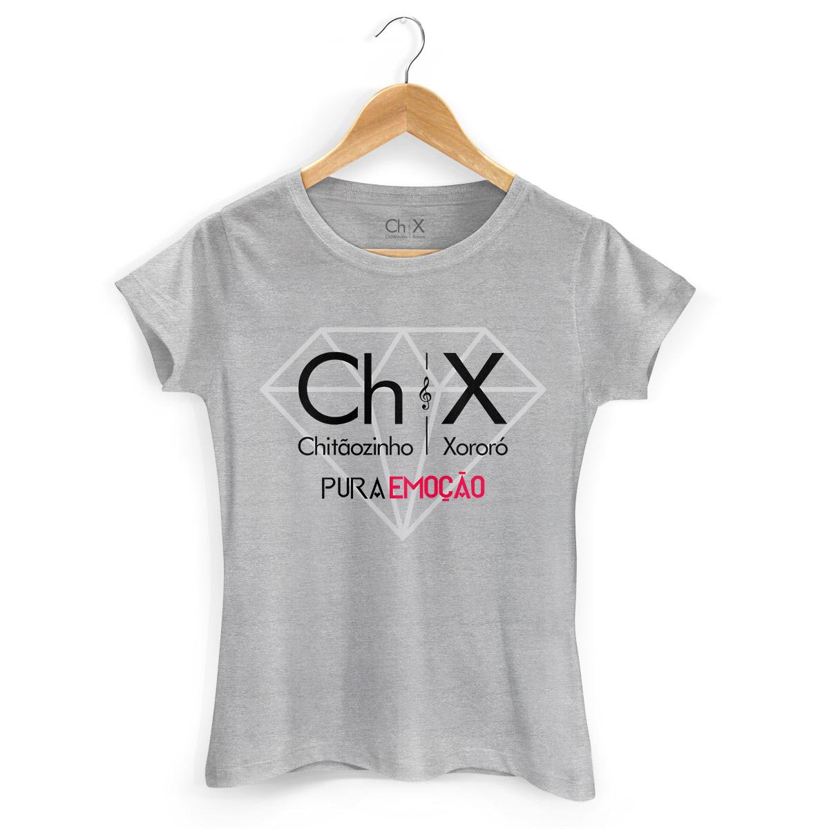 Camiseta Feminina Chitãozinho & Xororó Pura Emoção
