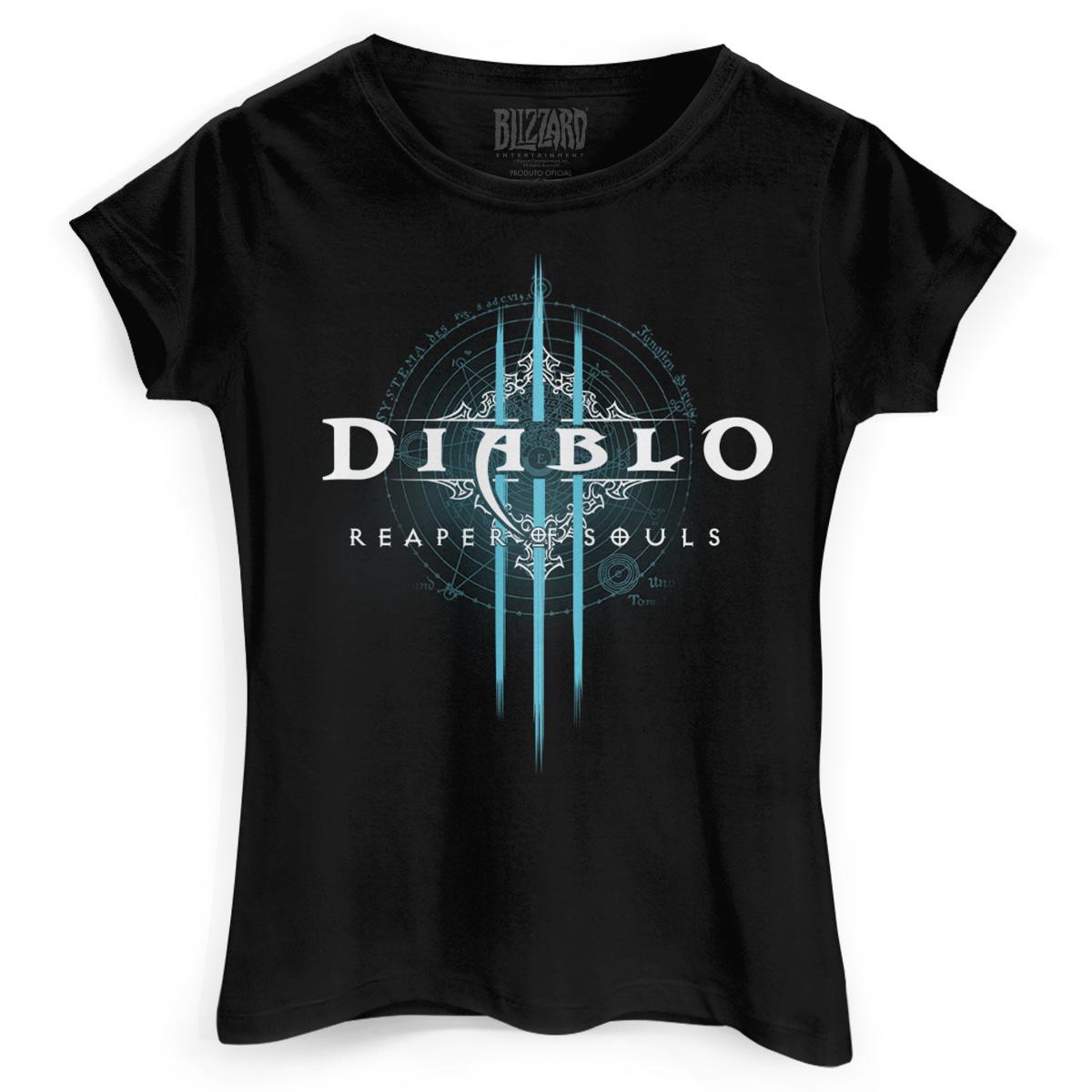 Camiseta Feminina Diablo III Reaper of Souls