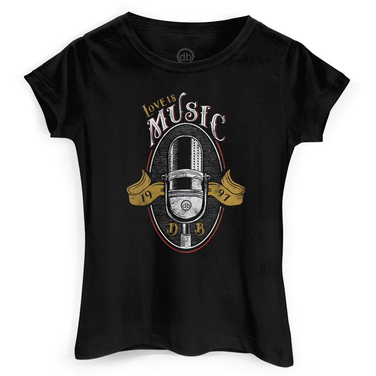 Camiseta Feminina Dudu Borges Love is Music