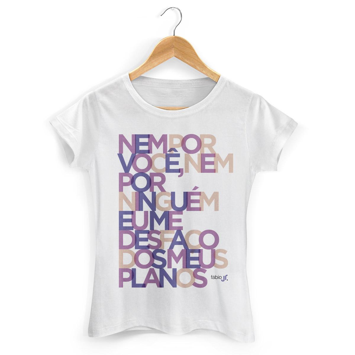 Camiseta Feminina Fábio Junior Meus Planos Colors