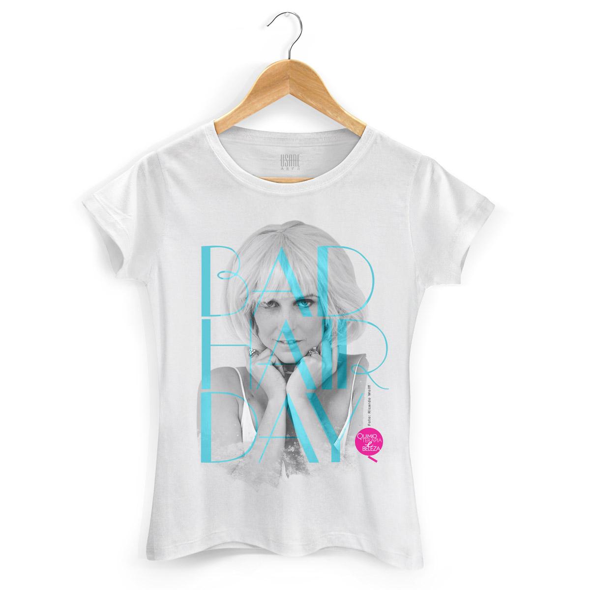 Camiseta Feminina QeB Bad Hair Day
