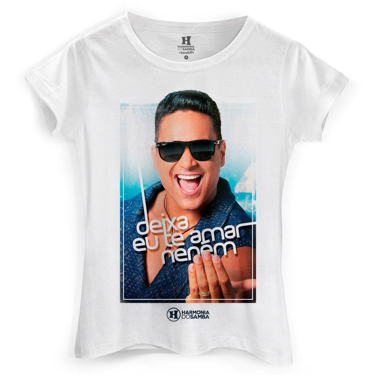 Camiseta Feminina Harmonia do Samba Deixa eu te Amar Neném