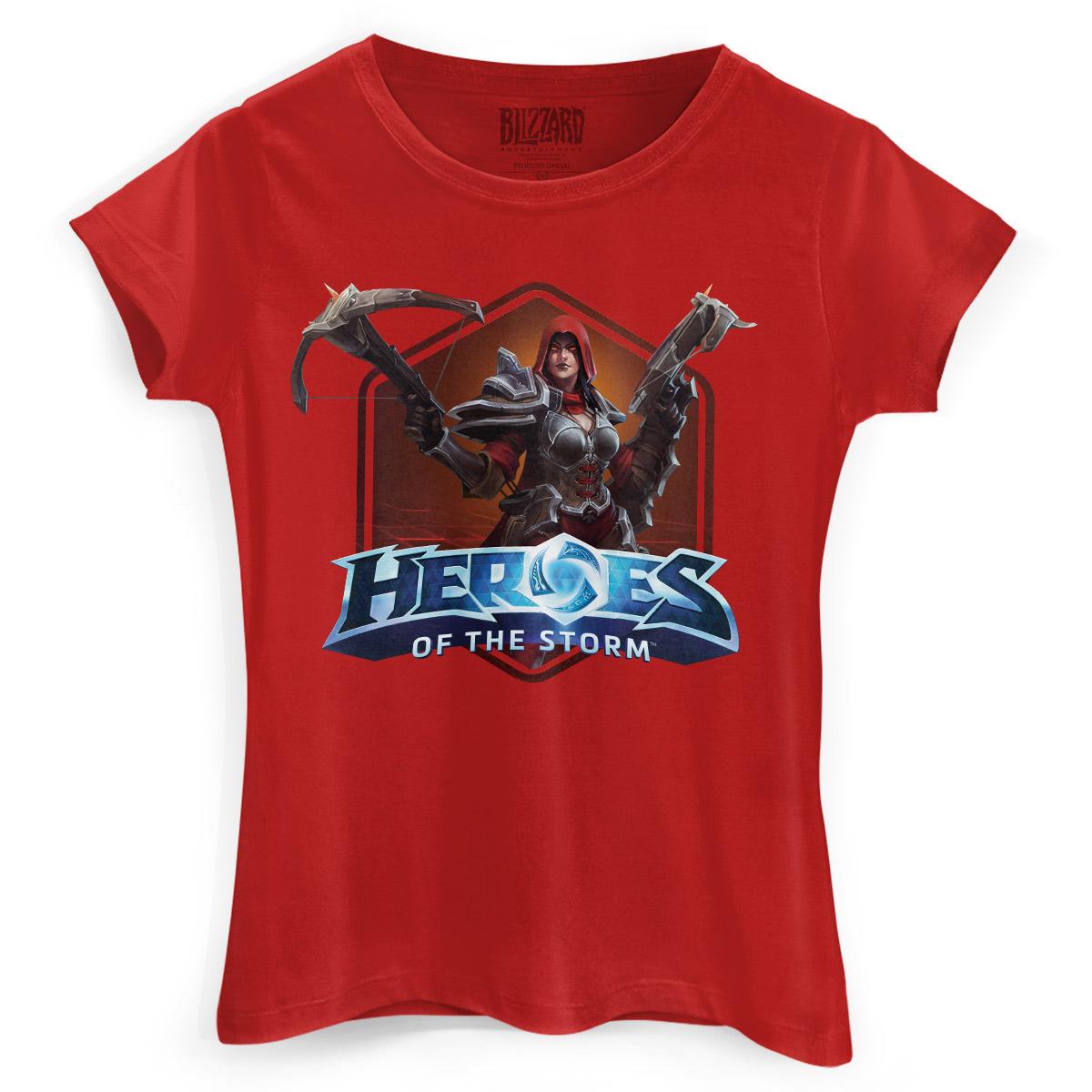 Camiseta Feminina Heroes Of The Storm Valla