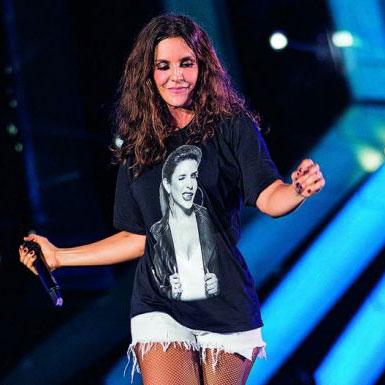 Camiseta Feminina Ivete Sangalo Piscadela Black