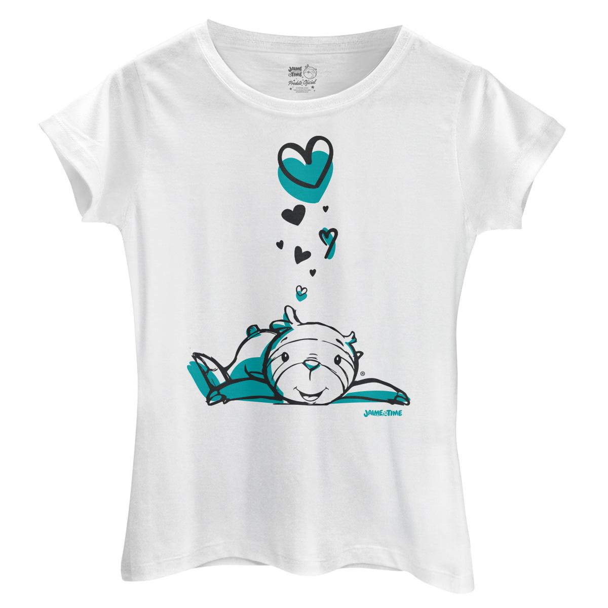 Camiseta Feminina Jaime Coração