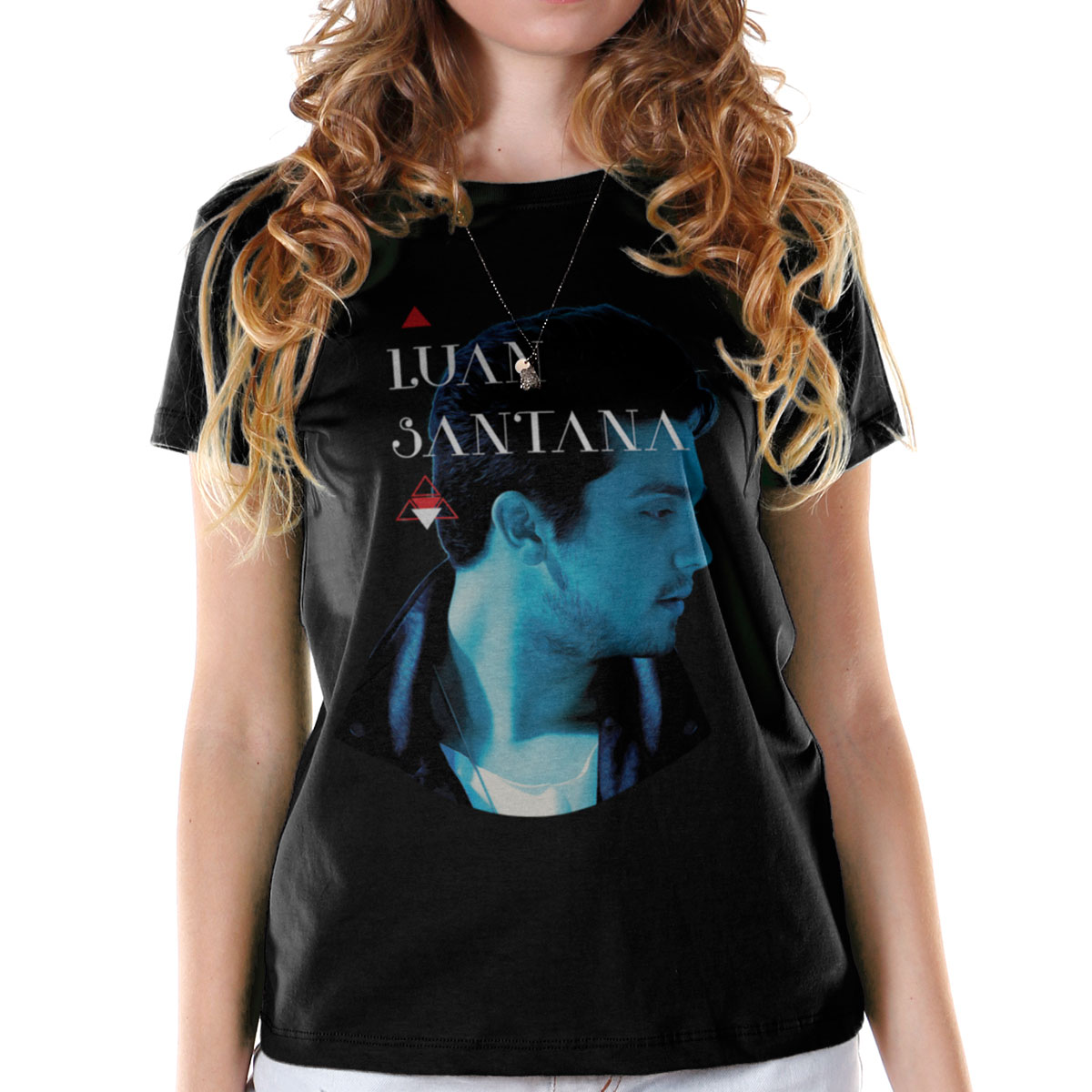 Camiseta Feminina Luan Santana Cantada
