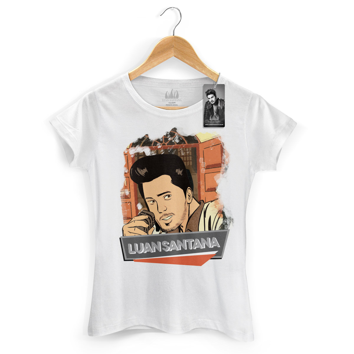 Camiseta Feminina Luan Santana Eu Não Merecia Isso