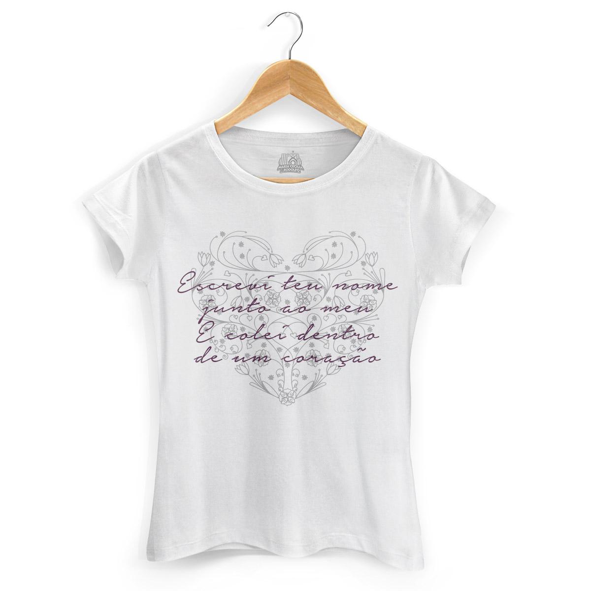 Camiseta Feminina Maria Cecília & Rodolfo Escrevi Teu Nome