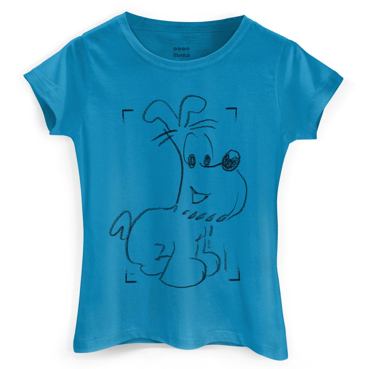 Camiseta Feminina Maurício de Sousa 80 Anos Bidu
