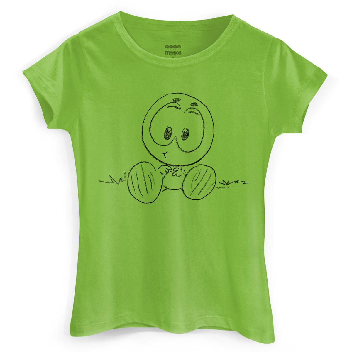 Camiseta Feminina Maurício de Sousa 80 Anos Horácio
